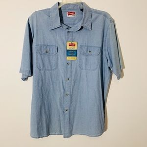 Mens Wrangler S/S button up XL